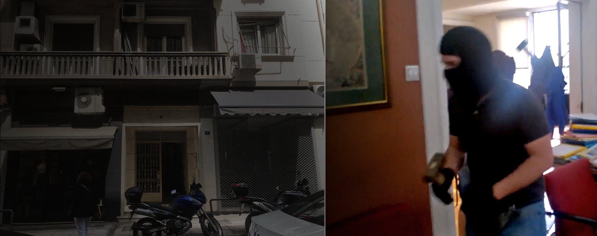 Αποτέλεσμα εικόνας για «Ντου» του Ρουβίκωνα με βαριοπούλες σε συμβολαιογραφείο στην Αθήνα