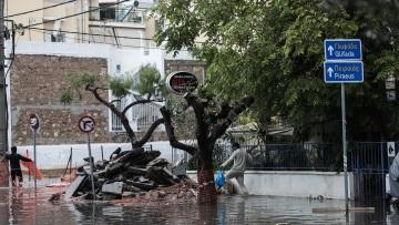 Κακοκαιρία Μπάλλος: Πάνω από 100 χιλιοστά βροχής σε Πατήσια, Περιστέρι και Αμπελόκηπους σε διάστημα επτά ωρών