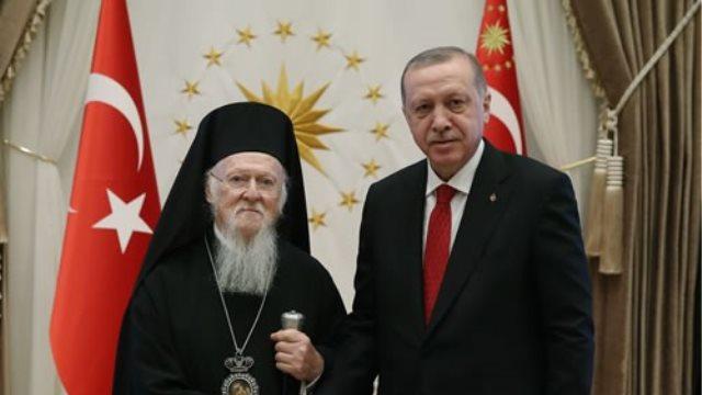 Παρουσία του Μεβλούτ Τσαβούσογλου η συνάντηση Βαρθολομαίου-Ερντογάν