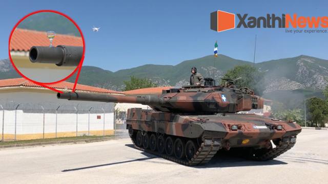 Απίστευτο βίντεο: Με...  Leopard πρόσφεραν κρασί στο στρατηγό τους στην Ξάνθη.
