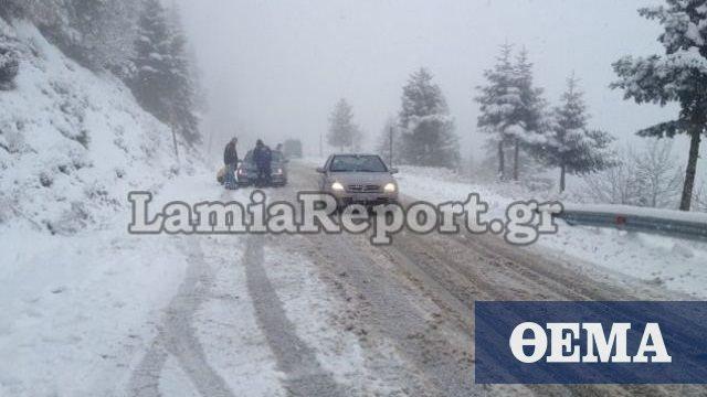 Χιόνια στα ορεινά της Στερεάς: Πού χρειάζονται αλυσίδες