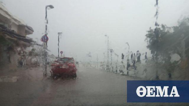 «Πνίγηκαν» στη βροχή Νέα Μουδανιά και Κασσάνδρα