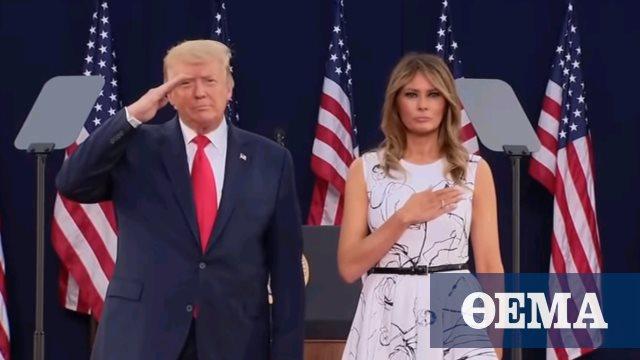 Σόου Τραμπ σε προεκλογική ομιλία στο Όρος Ράσμορ παραμονή της 4ης Ιουλίου