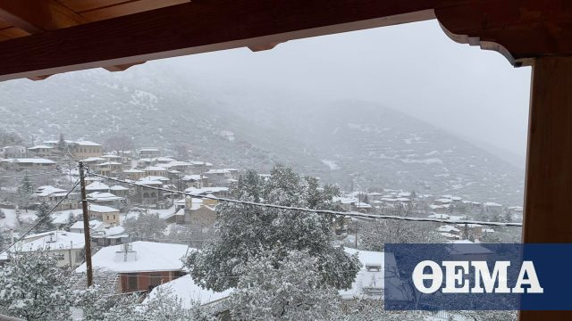 Καιρός – Κακοκαιρία «Λέανδρος»: Πού θα χιονίσει τις επόμενες ώρες