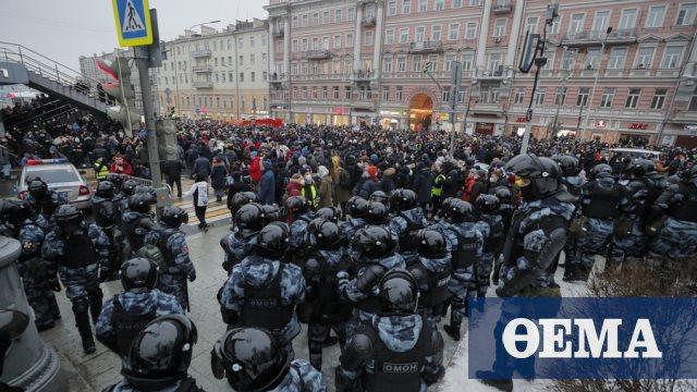 Πάνω από 1.000 υποστηρικτές του Ναβάλνι οδηγήθηκαν στη φυλακή (βίντεο -φωτογραφίες)