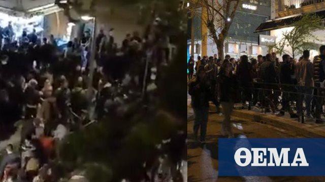 Ποια απαγόρευση κυκλοφορίας; Μεταμεσονύχτια «κορωνοπάρτι» και… κρυφτό με την Αστυνομία στις πλατείες της Αθήνας