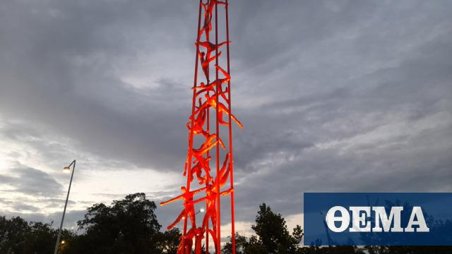 Θεσσαλονίκη: Αποκαλυπτήρια στο γλυπτό «Meteoron» - Δείτε φωτογραφίες