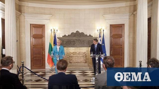 Mητσοτάκης στην Λιθουανή πρωθυπουργό: Αλληλεγγύη και τεχνογνωσία στις μεταναστευτικές ροές