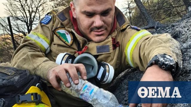 Ο πυροσβέστης που έγινε viral μετά τις φωτιές στη Δροσιά Αχαΐας