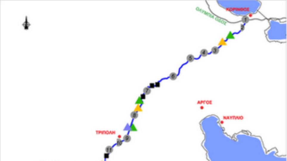 Ολικός 20λεπτος αποκλεισμός στον αυτοκινητόδρομο Κόρινθος - Τρίπολη - Καλαμάτα