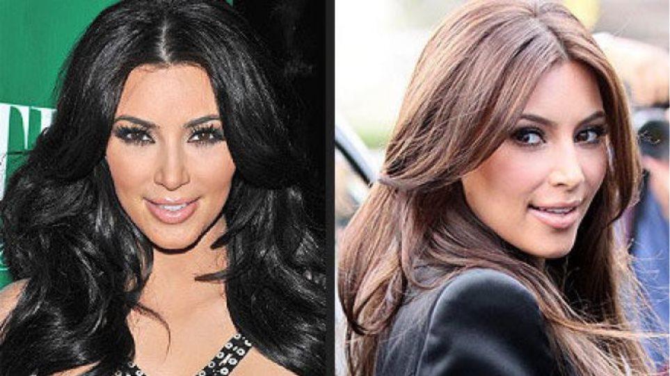 Η Kim Kardashian έγινε καστανή