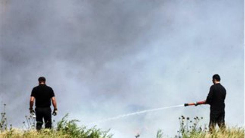 Υπό μερικό έλεγχο η φωτιά στο Μοναστηράκι Δράμας