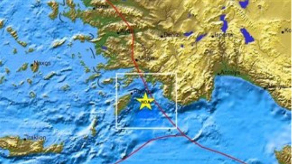Σεισμός 4,1 ρίχτερ ανάμεσα σε Ρόδο και Καστελόριζο