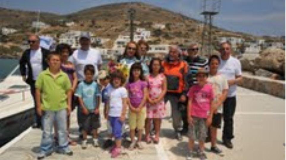 Με την «Ομάδα Αιγαίου» στη Σίκινο