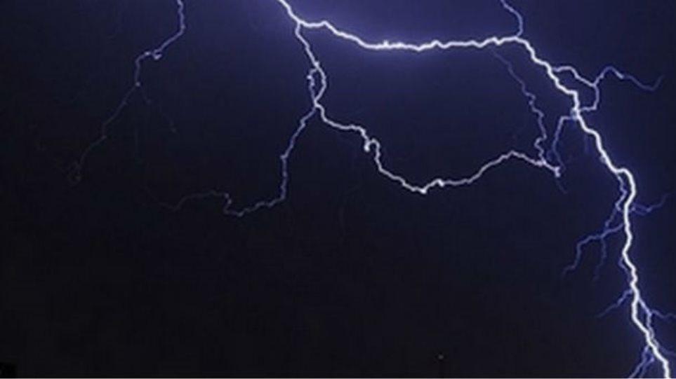 Κεραυνός χτύπησε σπίτι στην Ημαθία