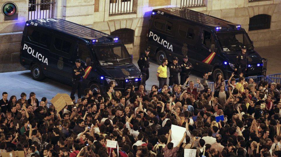 Συλλήψεις Αγανακτισμένων στην Πούερτα ντελ Σολ