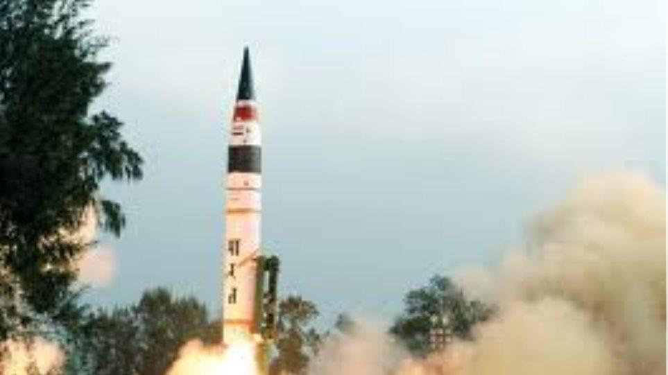 Ινδία: Επιτυχής δοκιμή βαλλιστικού πυραύλου