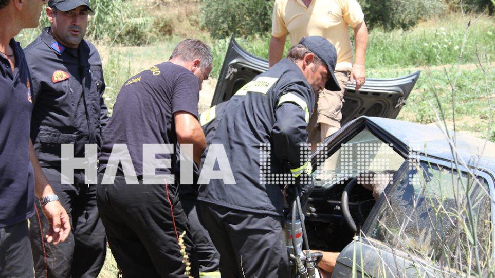 Πύργος: Ηλικιωμένος εγκλωβίστηκε στο ΙΧ του μετά από τροχαίο