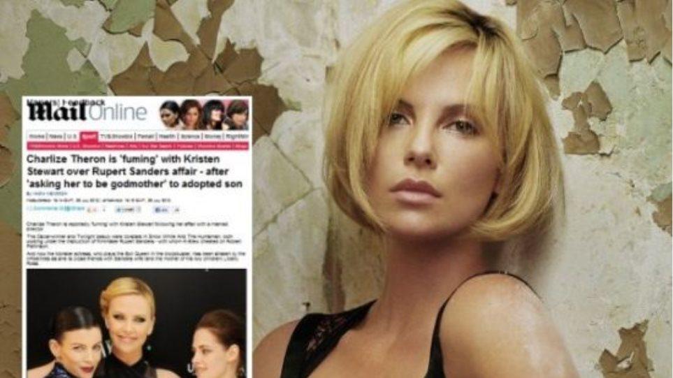 Έξαλλη η Charlize Theron με την απιστία της Kristen Stewart
