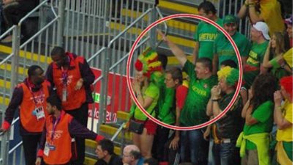 Ναζιστικός χαιρετισμός από Λιθουανό οπαδό