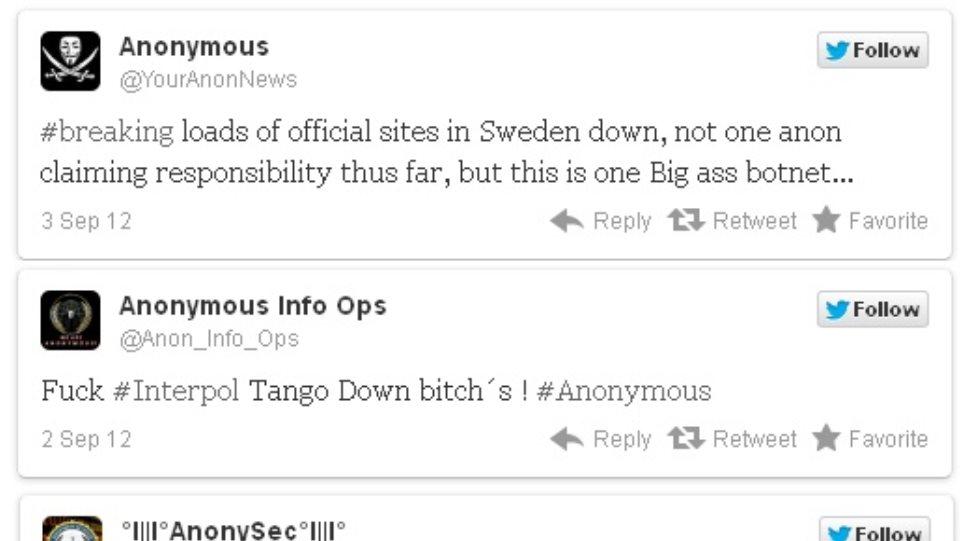 Χάκερς χτύπησαν σουηδικές κυβερνητικές ιστοσελίδες