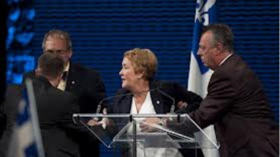 Φονική επίθεση κατά τη διάρκεια ομιλίας της πρωθυπουργού του Κεμπέκ