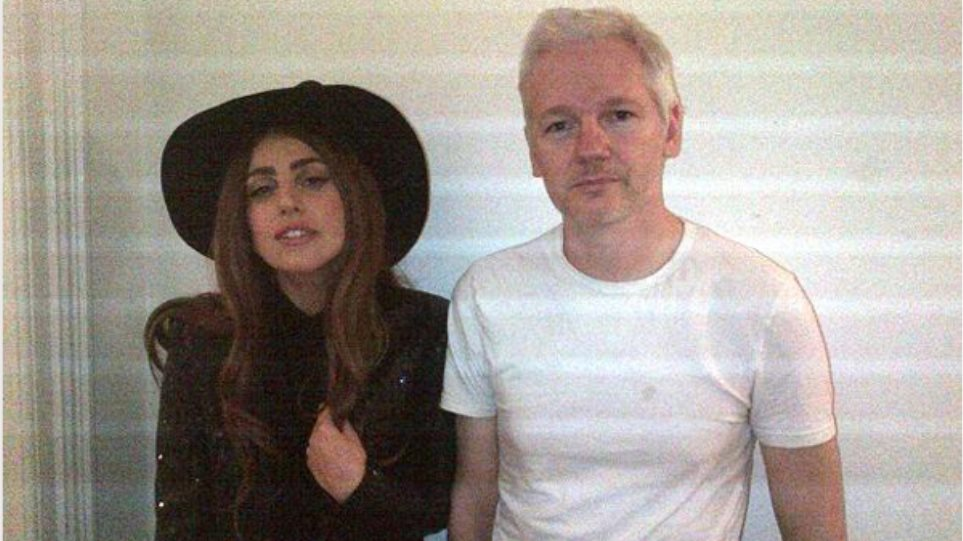 Συνάντηση της Lady Gaga με τον Τζούλιαν Ασάνζ