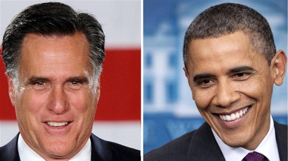 «Ισόπαλοι» με ποσοστό 45% Ομπάμα και Ρόμνεϊ
