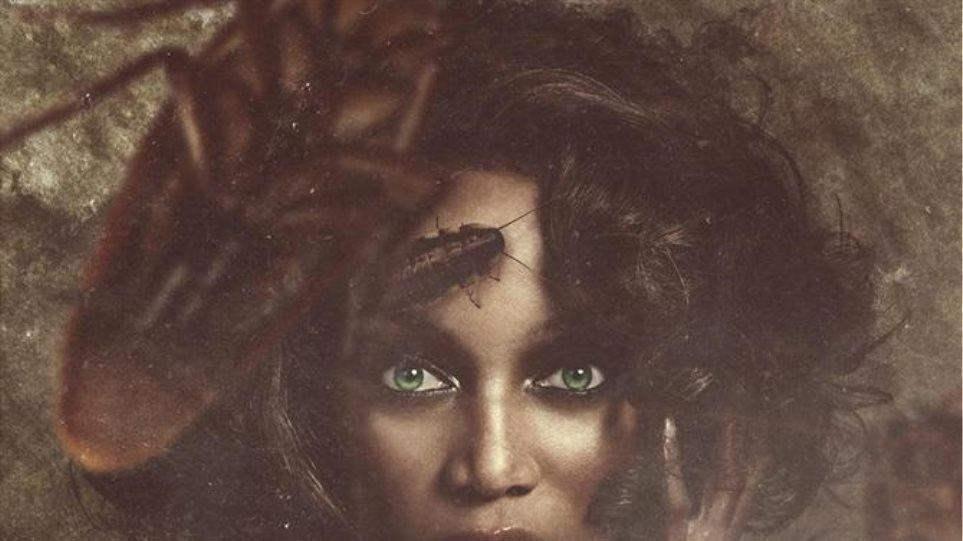Κατσαρίδες στο πρόσωπο της Tyra Banks