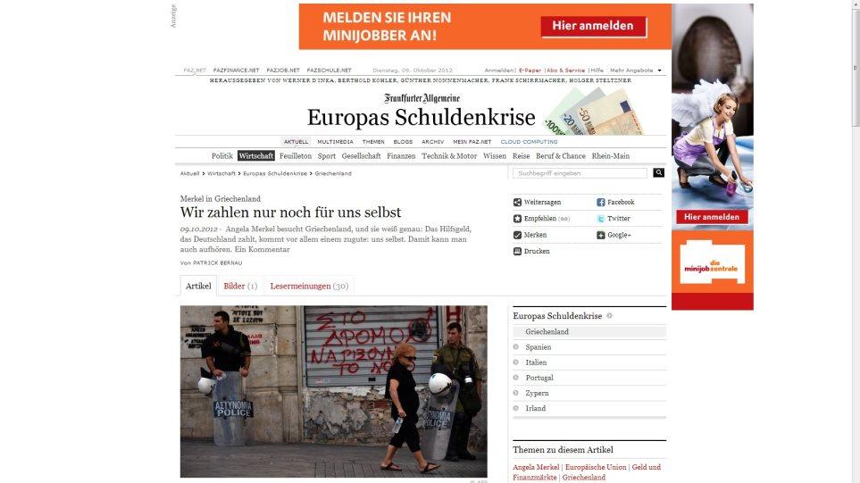 Zeitung: Τα μέτρα για την υποδοχή της Μέρκελ θυμίζουν Αφγανιστάν