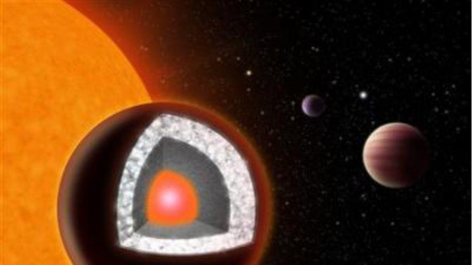 Ένας πλανήτης από διαμάντια στον αστερισμό του Καρκίνου