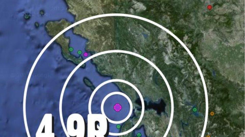 Σεισμός 4,9 Ρίχτερ νότια των Παξών