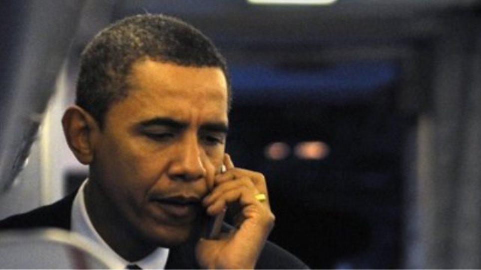 Τηλεφωνική επικοινωνία Ομπάμα με 13 πολιτικούς ηγέτες