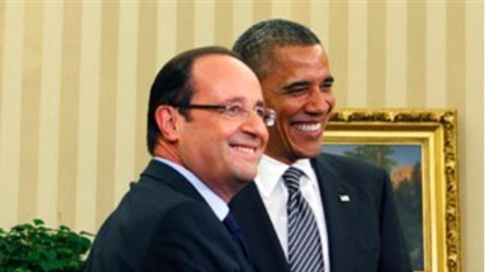 Σε «νέα ώθηση» της συνεργασίας τους συμφώνησαν Ολάντ – Ομπάμα