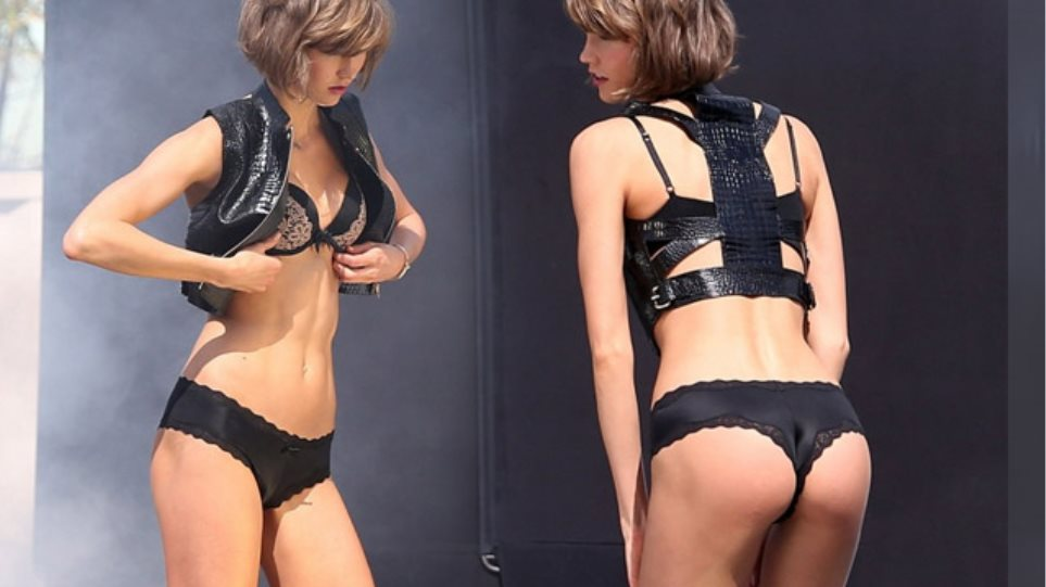 Karlie Kloss  Τα πρόστυχα τα μαύρα τα εσώρουχά της 63d3191cfd2