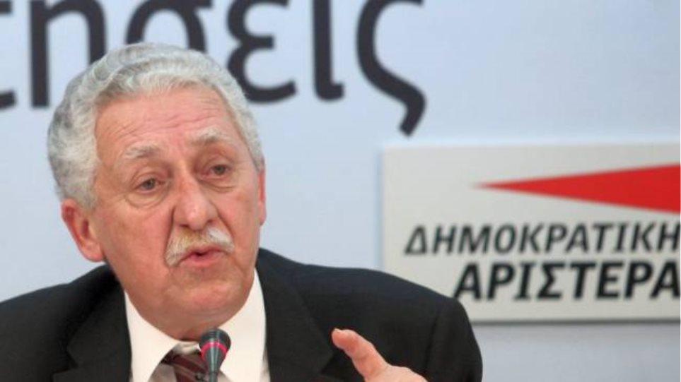 Φ. Κουβέλης: Ο Σαμαράς πήγαινε για εκλογές...