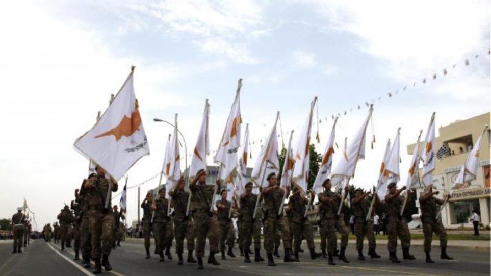 Λιτή η φετινή παρέλαση της επετείου ανακήρυξης της Κυπριακής Δημοκρατίας