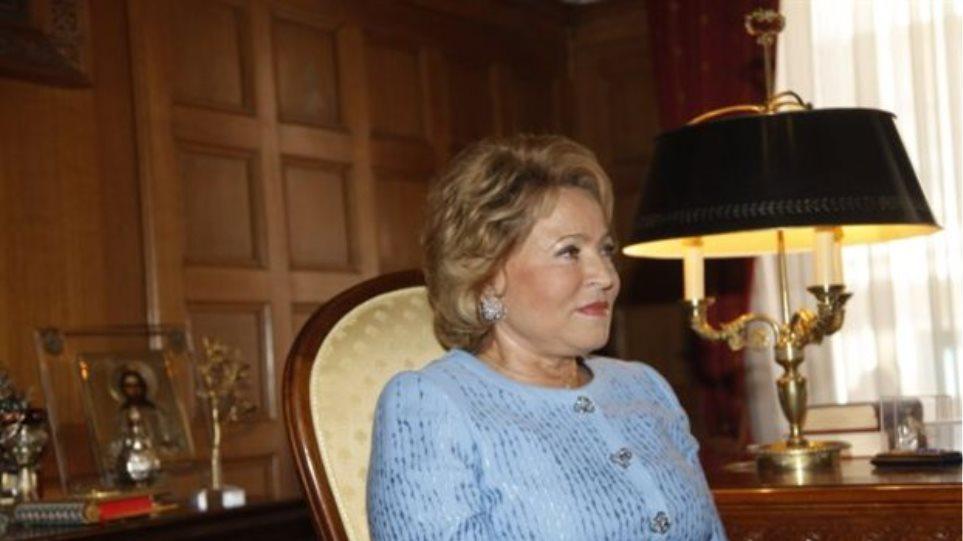 Βαλεντίνα Ματβιένκο: «Η Ρωσία είναι έτοιμη να συνδράμει για την Ελλάδα»