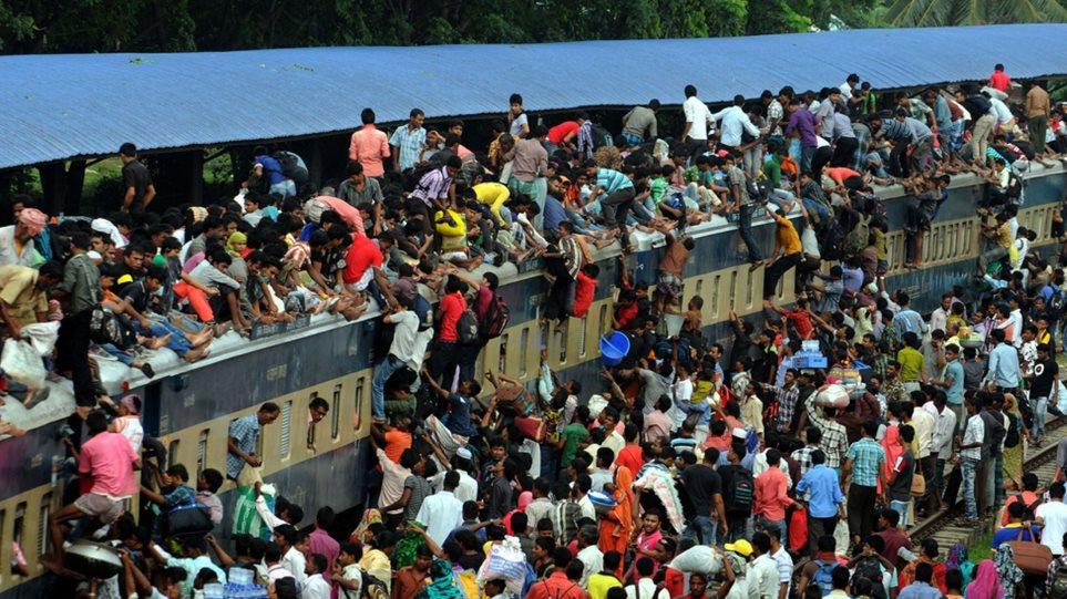 Μπαγκλαντές: Στοιβάζονται στα τρένα για να πάνε για προσκύνημα στη Μέκκα
