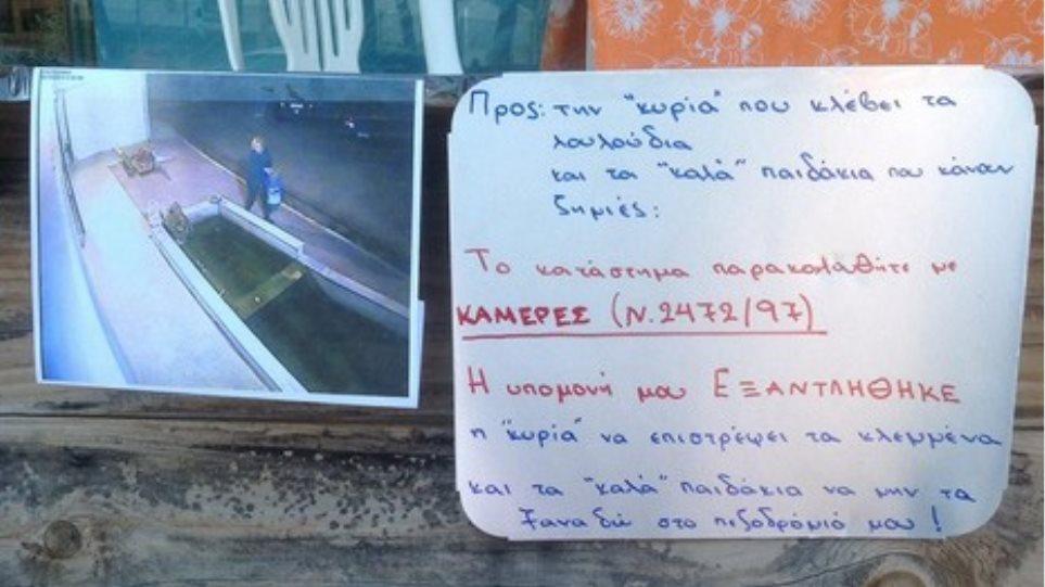 Θεσσαλονίκη: Έβαλε κάμερα ασφαλείας για το... παρτέρι της!