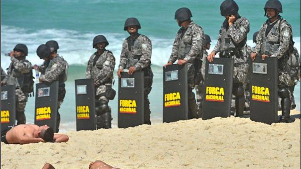 Βραζιλία: Άλλοι διαδηλώνουν κι άλλοι... λιάζονται!