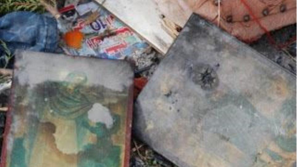 Ιερόσυλοι έκαψαν εικόνα μέσα σε εκκλησία στη Χερσόνησο Κρήτης