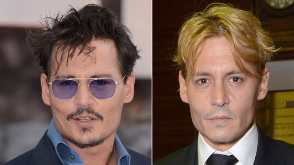 Ο Johnny Depp έβαψε τα μαλλιά του ξανθά!