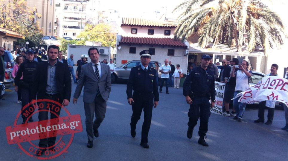 Το «Μεταξά» επισκέφθηκε ο Γεωργιάδης για τα εγκαίνια του συστήματος BLES