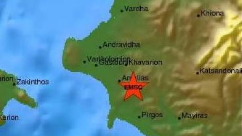 Σεισμός 4,2 Ρίχτερ στην Ηλεία