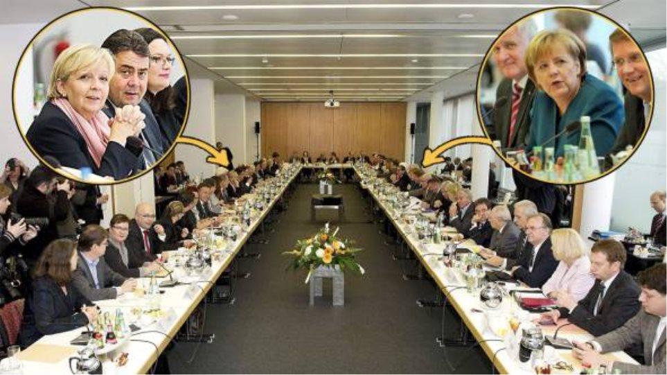 Γερμανία: Διαβουλεύσεις Μέρκελ και Σοσιαλδημοκρατών για τον «μεγάλο συνασπισμό»