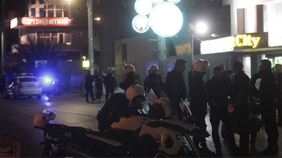 Murder of two Golden Dawn members outside the offices in Neo Irakleio