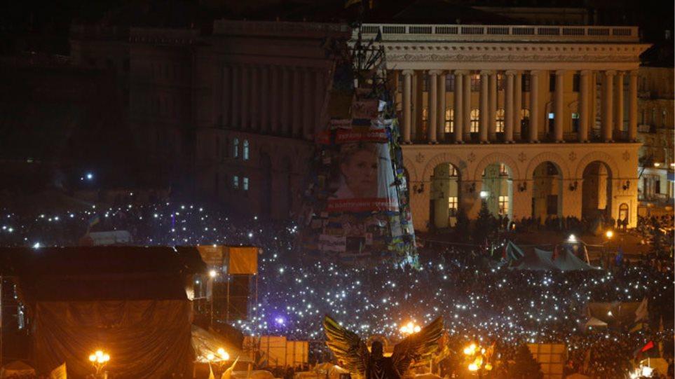 Ουκρανία: Ξενύχτησαν στην πλατεία Ανεξαρτησίας οι διαδηλωτές