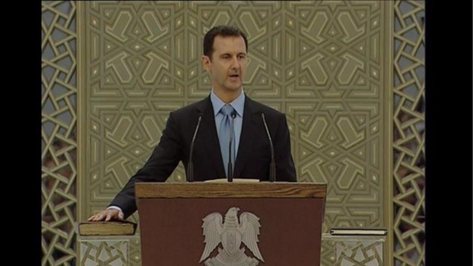 Συρία: Ορκίστηκε πρόεδρος για τρίτη επταετή θητεία ο Άσαντ