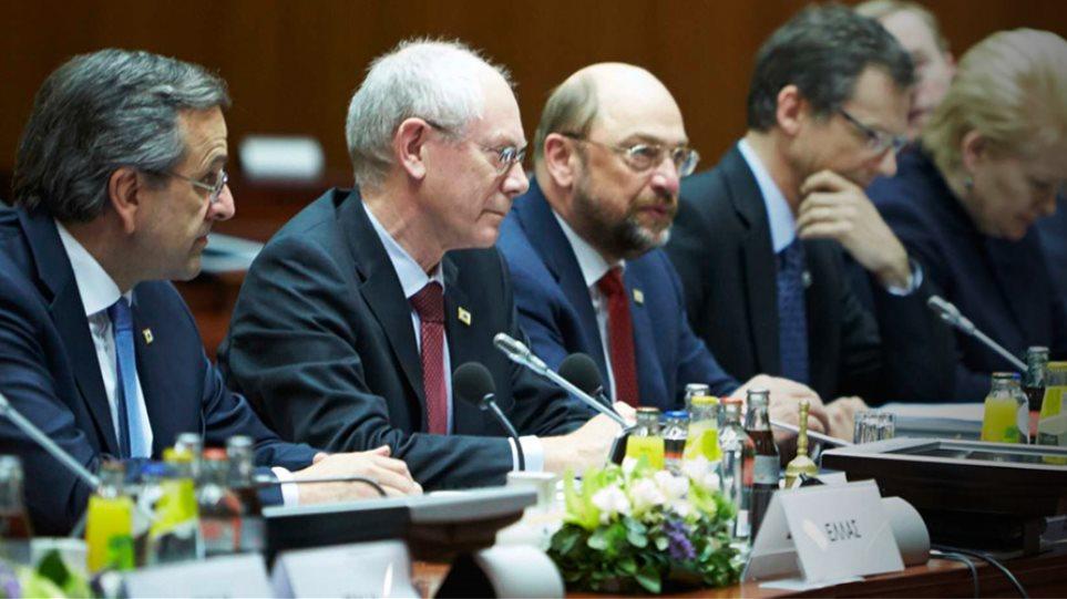 Στις Βρυξέλλες για τη σύνοδο κορυφής ο Σαμαράς
